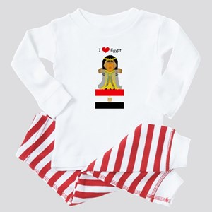 I Love Egypt Baby Pajamas